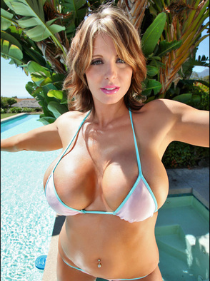 Brandy Robbins Shows Off Her Huge Tits