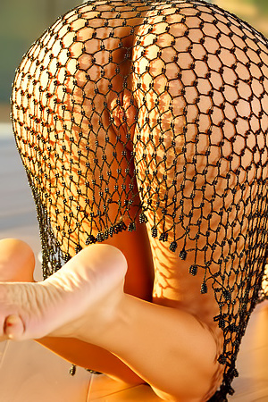 Mango In Sexy Fishnet Dress