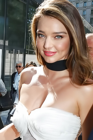 Miranda Kerr Shows Her Nice Perky Breasts