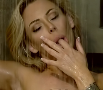 Blonde Isabelle Deltore With Tatoos And Big Boobs Taking Shower