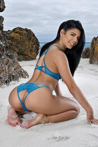 Gina Valentina Take Off Bikini On The Beach