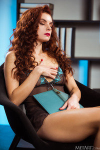 Veronika Glam Seductress Poses Provocatively