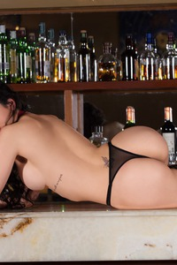 Flavia De Celis Shows Her Butts In The Bar