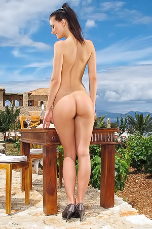 Lauren Crist Posing Nude Outdoors