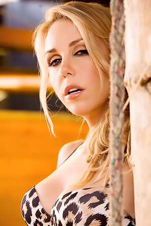 All Natural Blonde Holly Randall Posing Outdoors
