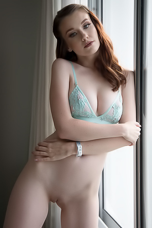 Emily Bloom Sexy Blue Lingerie
