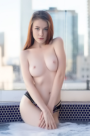 Emily Bloom in Skyline Jacuzzi