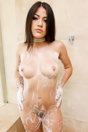 Cute Girl Kendra Spade is Showered and Lubed!
