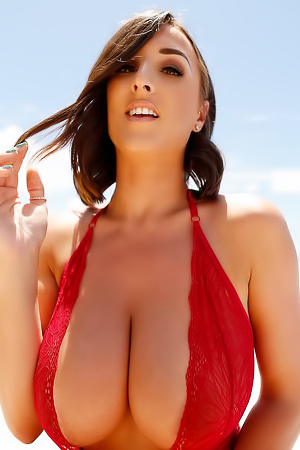 Stacey Poole Red One Piece Lingerie