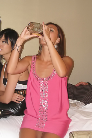 Drunk and wild Asian chicks