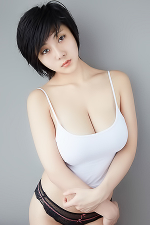 'Wet White Bodysuit' with Yoyo via All Gravure