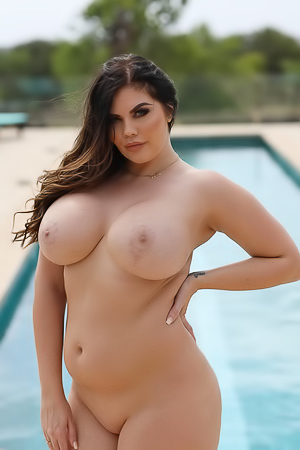 It's the perfect weather to go poolside with Terri Lou. Don't you love her new bikini? It hugs her body well and Nothing But Cur