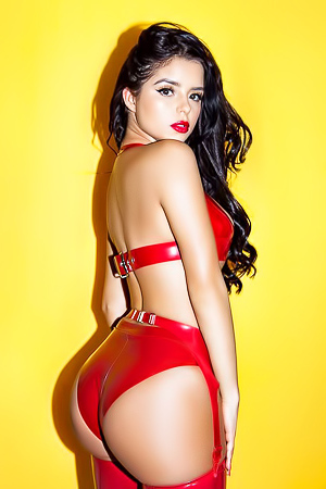 Demi Rose Mawby in various lingerie and see-through outfits