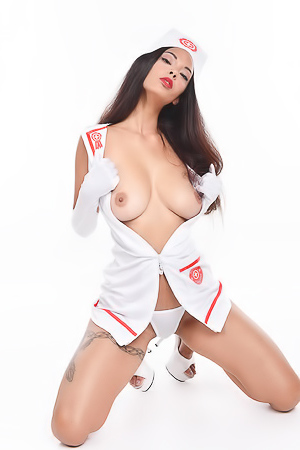 Amazing Nurse Babe Audalove With Big Titties